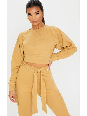PrettyLittleThing crop balloon sleeve knitted sweater