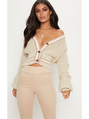 PrettyLittleThing crop extreme sleeve cardigan