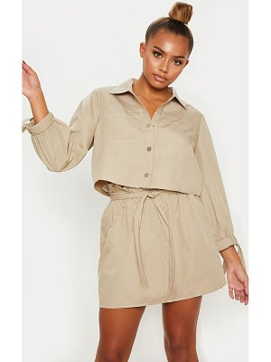 PrettyLittleThing  crop popper front shirt