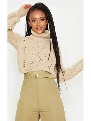 PrettyLittleThing cropped cable knitted sweater