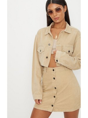 PrettyLittleThing cropped cord jacket
