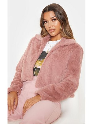 PrettyLittleThing cropped faux fur coat