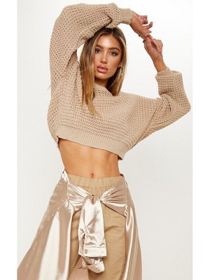 PrettyLittleThing cropped fisherman knit