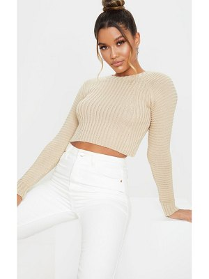 PrettyLittleThing cropped rib knit sweater