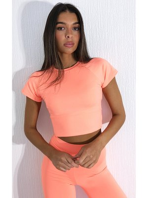 PrettyLittleThing cropped sports t shirt