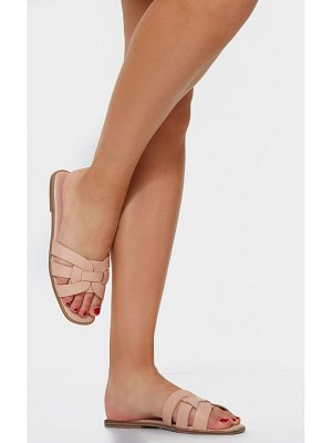 PrettyLittleThing cross over strap mule flat sandals