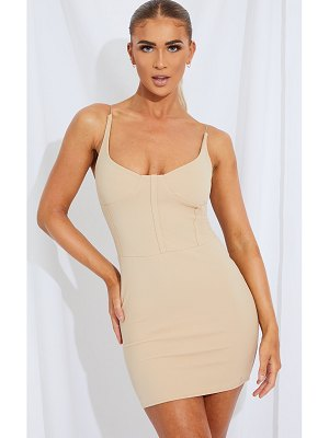 PrettyLittleThing cup detail strappy bodycon dress