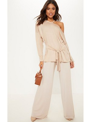 PrettyLittleThing cut out belted long sleeve top