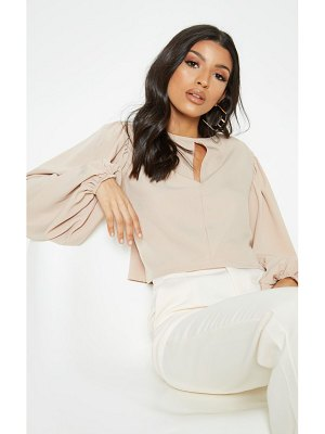 PrettyLittleThing cut out cropped blouse