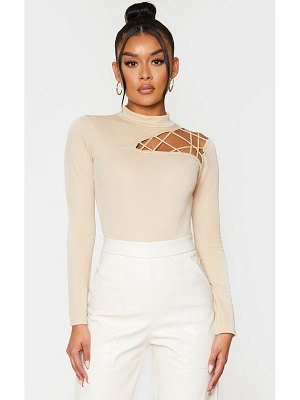 PrettyLittleThing cut out detail crepe bodysuit