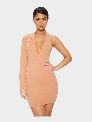 PrettyLittleThing cut out one shoulder blazer dress