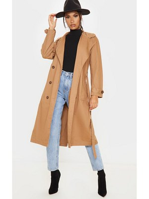 PrettyLittleThing dark denim trench coat
