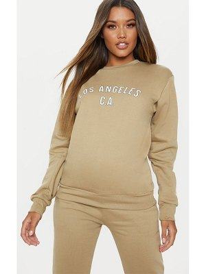 PrettyLittleThing deep stone los angeles sweater