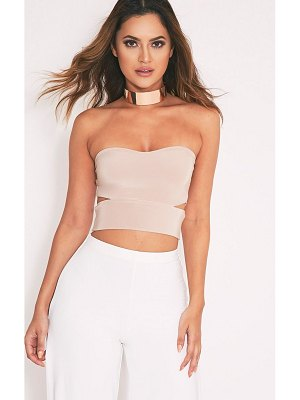 PrettyLittleThing denise cut out side slinky bandeau