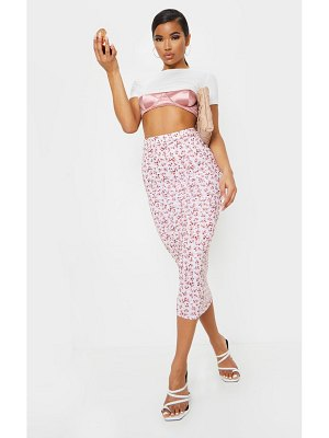 PrettyLittleThing ditsy floral midaxi skirt