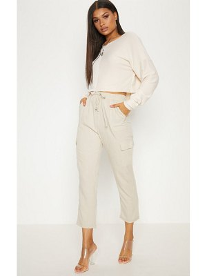 PrettyLittleThing diya check cargo pocket casual pants