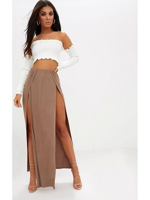 PrettyLittleThing double split maxi skirt