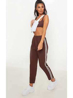 PrettyLittleThing double stripe drawstring casual pants
