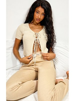 PrettyLittleThing double tie front fitted cardigan