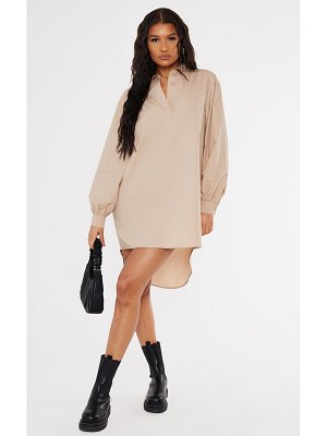 PrettyLittleThing drop hem polo collar shirt dress