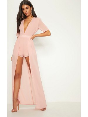 PrettyLittleThing dusky pink maxi overlay romper