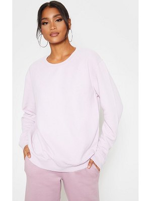 PrettyLittleThing dusty lilac washed ultimate sweater