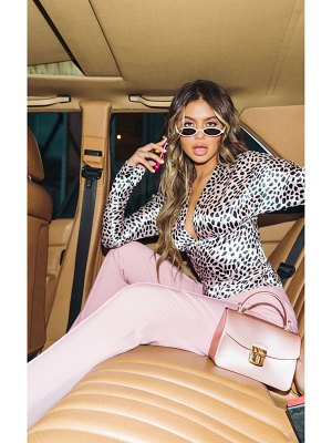PrettyLittleThing dusty pink belted tailored pants
