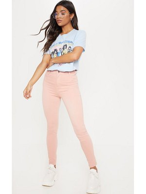 PrettyLittleThing dusty pink disco skinny jeans