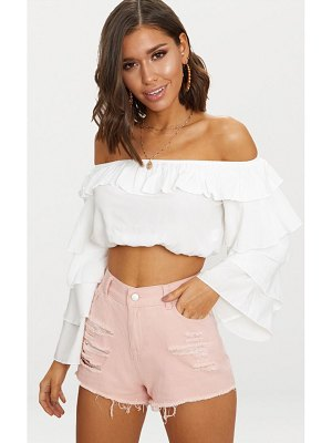 PrettyLittleThing elana ripped denim hot pants