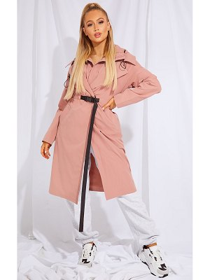 PrettyLittleThing elastic belted trench coat