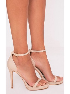 PrettyLittleThing enna single strap heeled sandals