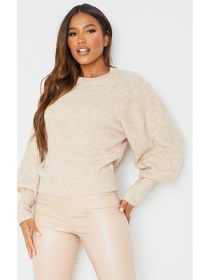 PrettyLittleThing extreme balloon sleeve knitted sweater