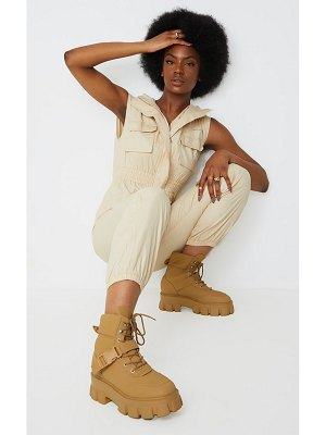 PrettyLittleThing extreme chunky sole buckle clasp hiker boots