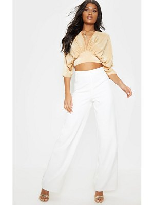 PrettyLittleThing extreme plunge batwing blouse