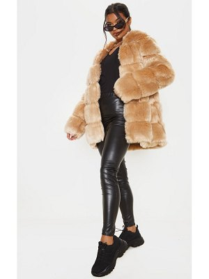 PrettyLittleThing faux fur bubble coat