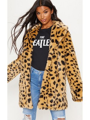 PrettyLittleThing faux fur coat