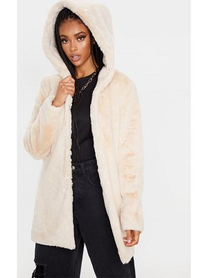 PrettyLittleThing faux fur hooded coat