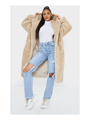 PrettyLittleThing faux fur teddy toggle maxi coat