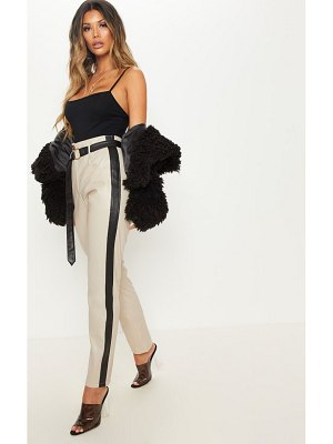 PrettyLittleThing faux leather side stripe pants