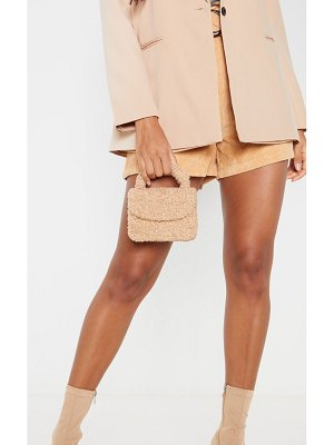 PrettyLittleThing faux shearling mini grab bag