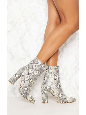 PrettyLittleThing faux snake ankle boot