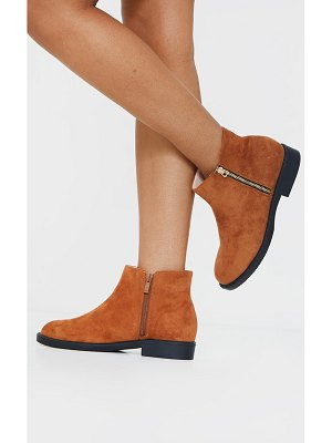 PrettyLittleThing faux suede basic ankle boots