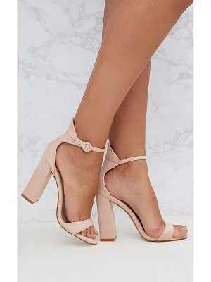 PrettyLittleThing faux suede block high heeled sandals