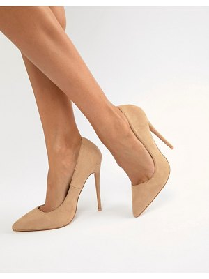 PrettyLittleThing faux suede high heeled pumps