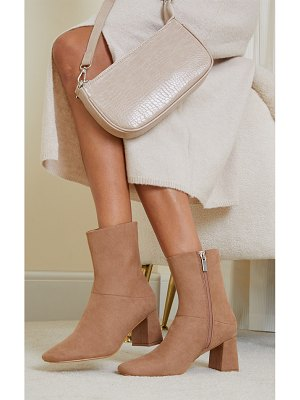 PrettyLittleThing faux suede low heeled ankle boots