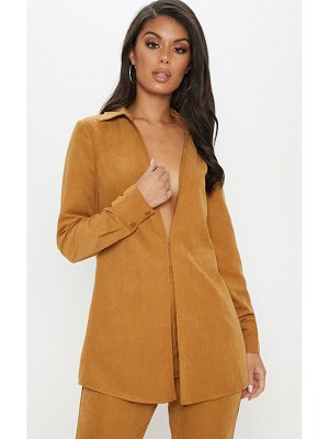 PrettyLittleThing faux suede oversized shirt