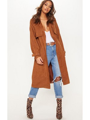 PrettyLittleThing faux suede trench