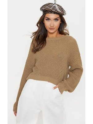 PrettyLittleThing fisherman cropped knitted jumper