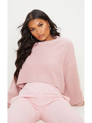 PrettyLittleThing fisherman knit batwing cropped sweater