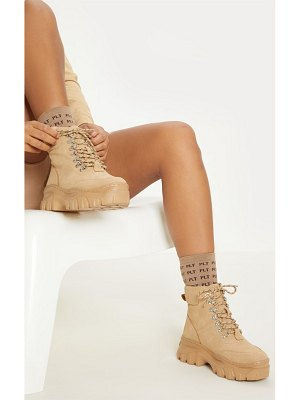 PrettyLittleThing flatform chunky hiker boot trainers